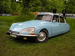 The 1955 Citroën DS; revolutionary visual design and technological innovation.