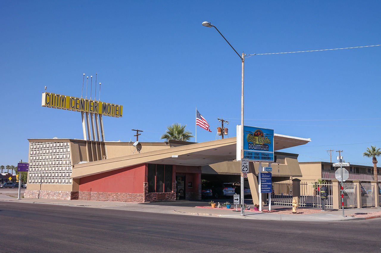 File City Center Motel Phoenix Arizona Jpg Wikimedia