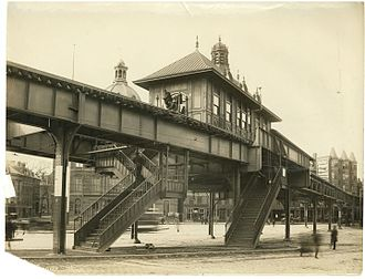 Charlestown Elevated - Image: City Square station, March 1901