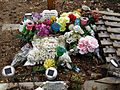 City of London Cemetery and Crematorium - temporary plastic grave decorations 04.jpg