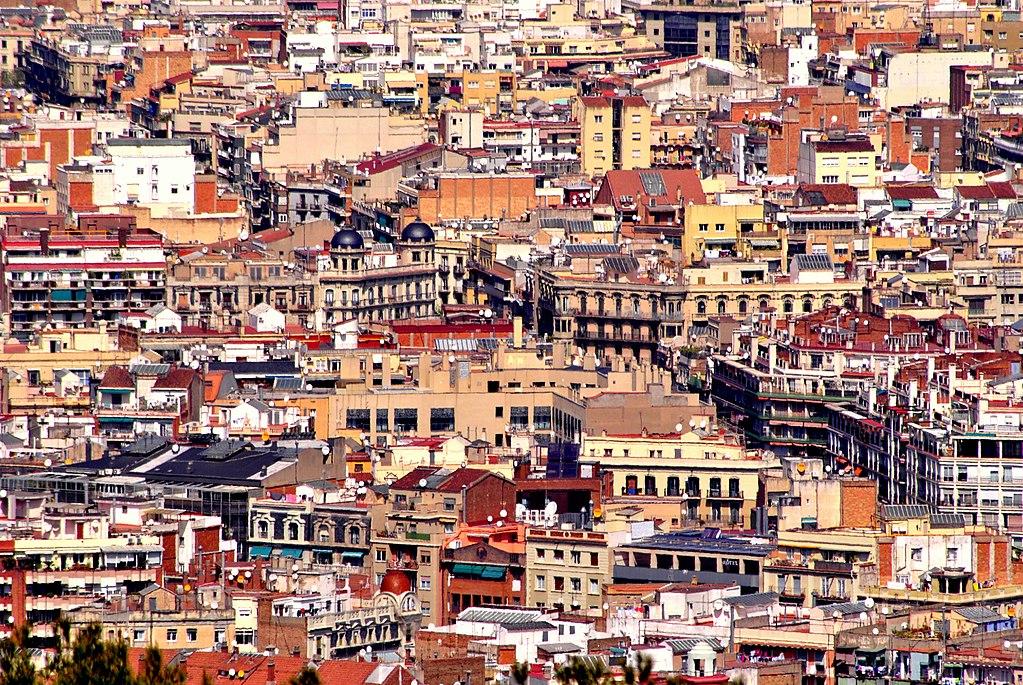 Vue sur les toits de Barcelone - Photo de Valeria Dios