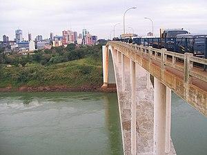 Ciudad del Este - Image: Ciudad del Este puente de la Amistad
