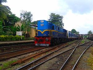 Batticaloa line - Udaya Dewi Train at Kurunegala, before the Batticaloa line branches off the Northern line