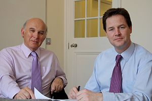 Vince Cable - Cable with Liberal Democrat leader Nick Clegg in 2009