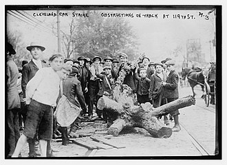 Streetcar strikes in the United States - Image: Cleveland Streetcar strike