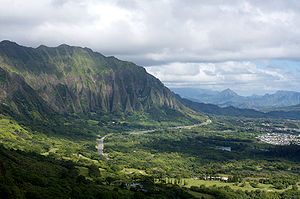 Nuʻuanu Pali - Image: Cliffs of the Koolau Range, Oahu 58