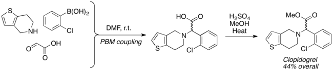 synthesis of clopidogrel via PBM coupling