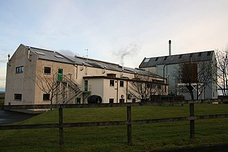 Clynelish distillery - A view of the rear of Diageo's Clynelish Distillery near Brora