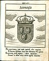 Coat of Arms of Dalmatia from Stemmatographia by Hristofor Zhefarovich (1741).jpg