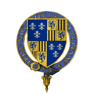 Thomas Burgh, 1st Baron Burgh - Arms of Sir Thomas Burgh, at the time of his installation as a knight of the Most Noble Order of the Garter