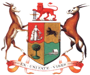 Speaker of the National Assembly of South Africa - Image: Coat of Arms of South Africa 1910 1930
