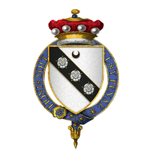 Henry Carey, 1st Baron Hunsdon - Arms of Sir Henry Carey, 1st Baron Hunsdon, KG
