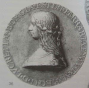 Coin of Lucrezia Borgia