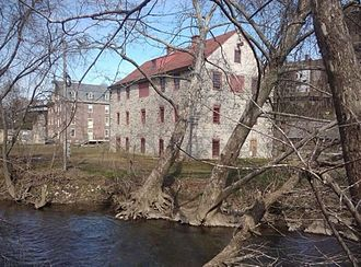Bethlehem, Pennsylvania - The Colonial Industrial Quarter on the east bank of Monocacy Creek in Bethlehem.