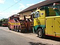 Colourful recovery vehicles outside business premises, Dallinghoo - geograph.org.uk - 859953.jpg