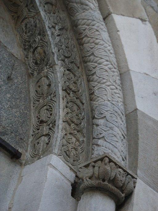 Como, basilica di sant'abbondio, esterno 13
