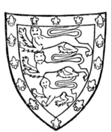 Fig. 708.—Arms of John de Holand, Duke of Exeter (d. 1400): England, a bordure of France. (From his seal, 1381.)