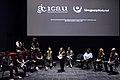 Conferencia sobre las artes y oficios en el cine, México 2016. Estefanía Larraín y Muriel Parra (Neruda).jpg