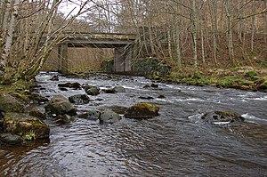 Battle of Logiebride - The river Conon, near to the village of Conon Bridge where the battle took place