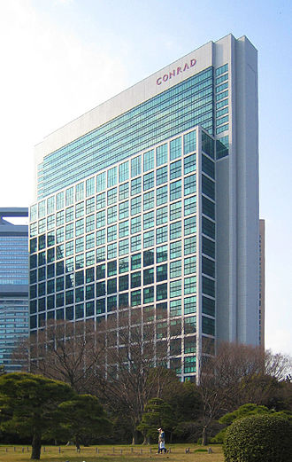 SoftBank Group - Tokyo Shiodome Building, SoftBank's global headquarters in Tokyo.