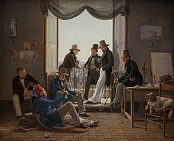 Constantin Hansen: A Group of Danish Artists in Rome