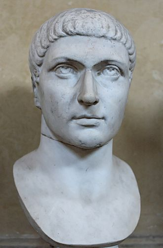 Battle of Mardia - Portrait bust of Constantine I