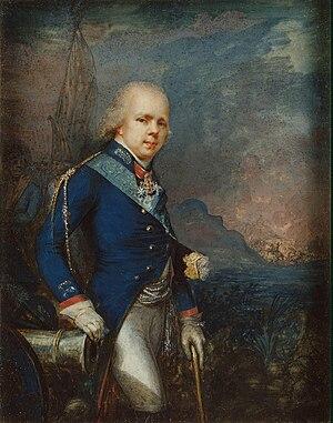 Grand Duke Konstantin Pavlovich of Russia - Portrait of Konstantin at the Battle of Novi, a Russian victory