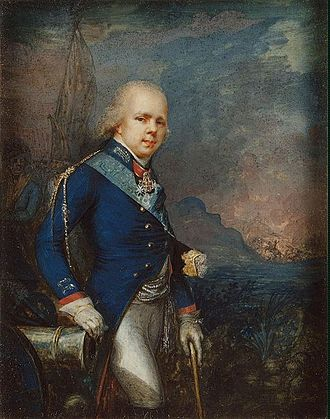 Grand Duke Konstantin Pavlovich of Russia - Portrait of Konstantin at the Battle of Novi, a Russian victory