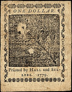Continental Currency $1 banknote reverse (January 14, 1779).jpg