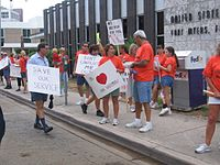 city rural carriers offer their opinions of cds outside the downtown fort myers post office on june 27 2007 over the years the nalc
