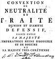 Convention de Neutralité et Traité d'union ... entre S. M. l'Imperatrice ... et S. M. tres Chrétienne 1756, Vienna 1756.jpg