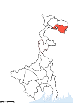 Location of Cooch Behar district in West Bengal