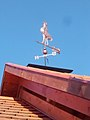 Copper rooster on the roof of the community building, Nagy Street, 2017 Bicske.jpg