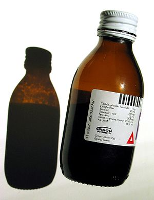 A bottle of Recipect® over-the-counter cough m...