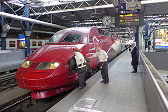 2015 Thalys train attack - Image: Coupling THA 9364 B M Z, June 2014 (2)