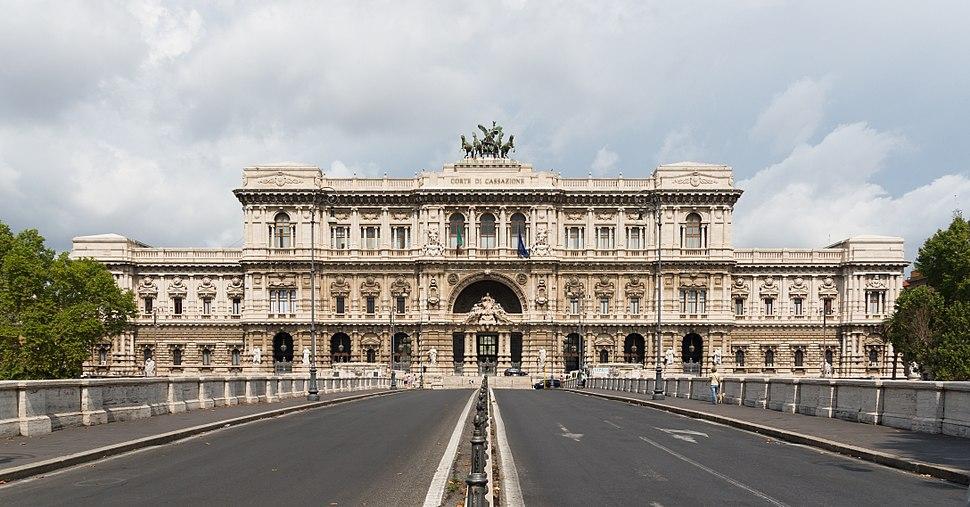 Courthouse facade, Rome, Italy