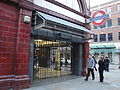 Covent Garden tube station during Boxing Day 2011 tube strike.JPG