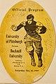 Cover photo of the 1909 Pitt versus Bucknell football game day program.jpg