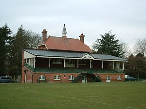 Clarence Park (St Albans) - Cricket pavilion at Clarence Park