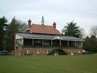 Clarence Park (St Albans) - Cricket pavilion at Clarence Park