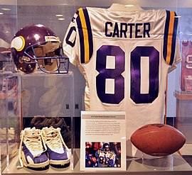 2628f42a8 Cris Carter jersey shown at Pro Football Hall of Fame in Canton