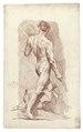 Croquisteckning föreställande naken man, 1760-tal - Skoklosters slott - 99210.tif