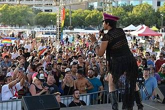 Crystal Waters - Waters performing in 2013.