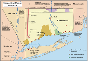 Map showing the Connecticut, New Haven, and Sa...