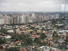 Linear Urban Development In Curitiba Contrasted With Surrounding Residential