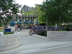 McDonald's Cycle Center - Front of McDonald's Cycle Center