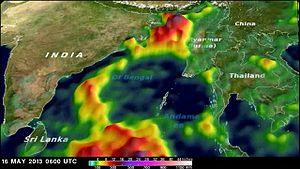 Cyclone Viyaru - Image: Cyclone Mahasen TRMM rainfall estimate