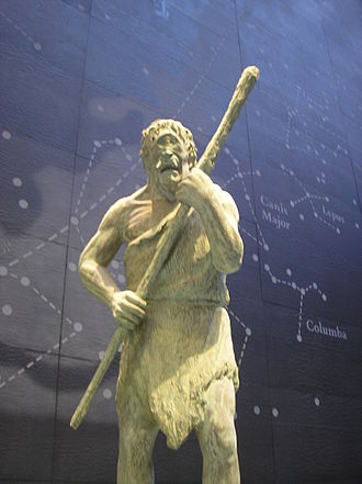 Cyclops - Statue of a Cyclops at the Natural History Museum in London