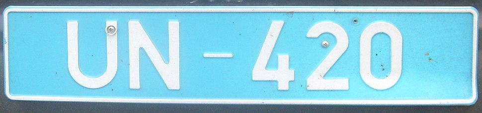 Cyprus license plate UN-420