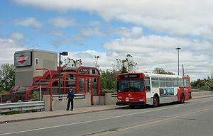 Cyrville station - Image: Cyrville Transitway Station above